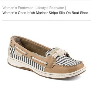 SPERRY Striped Cherubfish Boat Shoes - 8